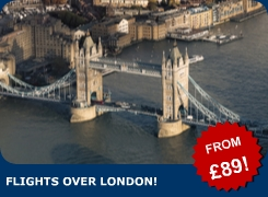 If you want a truly inspiring view from the air, why not book a flight over London?