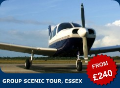Why not book our superb Piper Warrior aircraft for a really great aviation treat? We can fly your party of up to three people over the beautiful Essex countryside. We may even be able to fly right over your house!