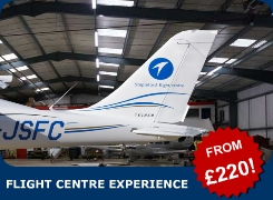 Enjoy a great experience at Stapleford Flight Centre, London. From just £220 we offer you the chance to see around our airfield, take your choice of a 30-minute scenic flight over London or a trial flying lesson. I year club membership included!